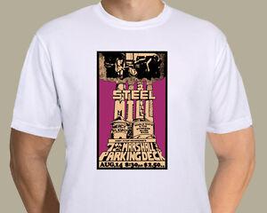 Bruce Springsteen -  Steelmill concert poster (1970) on T-shirt
