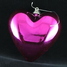 Shatterproof  Heart Ornaments - Lot of 60 Christmas Ornaments- FREE SHIPPING