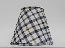 4 Country Plaid Fabric Chandelier Lamp Shades Multi-Color, Traditional, any room