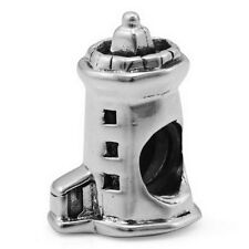 Lighthouse Genuine Solid Sterling Silver Charm OHM Bead AHL001