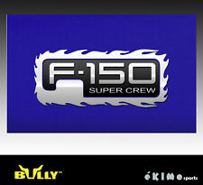 01 02 03 FORD F150  SUPERCREW BULLY TAILGATE LOGO FLAME LOGO TRIM F-150