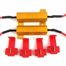 2 50W 6OHM TURN SIGNAL LOAD RESISTORS + 4X WIRE CONNECTORS PREVENTS HYPERFLASH