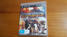 Transformers Fall of Cybertron PS3 Playstation 3 Game