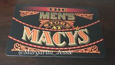 MACY'S FOIL GIFT CARD THE MEN'S STORE AT MACY'S NO VALUE NEW