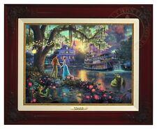 Thomas Kinkade - Princess & The Frog – Canvas Classic (Brandy Frame)