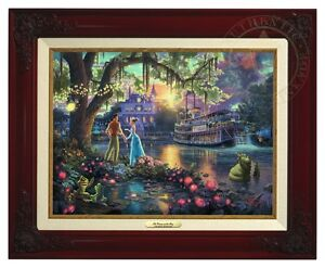 Thomas Kinkade Princess & The Frog Canvas Classic (Brandy Frame)