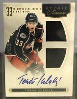 2012 Panini Rookie Treasures Tomas Kubalik #153 Game-Used Jersey Autograph