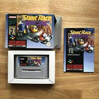 Stunt Race FX - Super Nintendo SNES  PAL UKV - Retro Mode 7 Ledge -