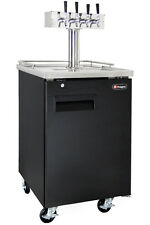 Kegco Commercial Grade Homebrew Kegerator Four Tap Keg Dispenser Black