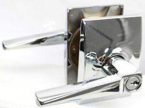 Schlage F51AELR625CEN Eller Lever w/ Century Trim Keyed Entry Lock Chrome T2