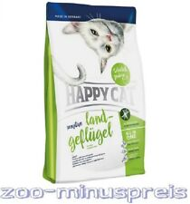 HAPPY Cat Katzenfutter 4 kg, Land Geflügel sensitiv, Feinschmecker fliegen drauf