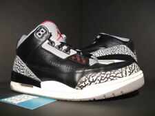 NIKE AIR JORDAN III 3 RETRO BLACK FIRE RED CEMENT GREY WHITE 136064-010 OG 10
