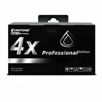 4x Pro Cartridge Black for Canon Pixma MG-6450 MG-5450 MG-6650 MG-7550 MG-5655