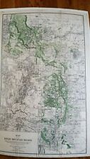 Stunningly detailed 1885 Map of the Rocky Mountain Region, forests, ditches