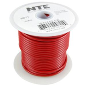 NTE Electronics WH22-02-1000 HOOK UP WIRE 300V STRANDED 22 GAUGE RED 1000'