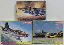 AVIATION : MIG 27, SU-22M-3, SU-22M-4 SMALL MODEL KITS MADE BY DRAGON / TSUKUDA