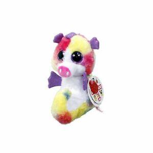 Korimco Animotsu Keel Rainbow Soft Plush Seahorse Named Shelley BNWT 15cm
