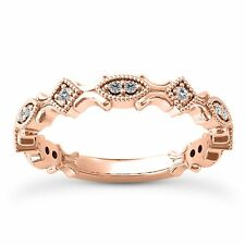 14 KT ROSE GOLD STACKABLE  RING WITH 0.14 CARAT DIAMONDS