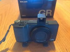 Ricoh GR II 16.2MP Digital Camera w/ GV-2 viewfinder, 3 batteries, and more