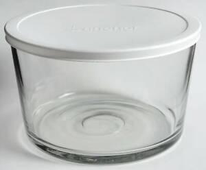 Anchor Hocking Presence Clear Flat Trifle Bowl & Plastic Lid 9470956