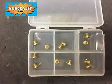 Rochester Quadrajet Jet six pack, for tuning. 6 sets of Jets in sturdy case