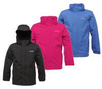 Regatta Westburn Girls Kids Waterproof Fleece Lined Jacket Purple 13-14