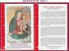 865 SANTINO HOLY CARD MADONNA MARIA DELLE GRAZIE S. GIOVANNI ROTONDO