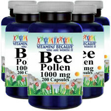 Bee Pollen 1000mg 5X200 Caps by Vitamins Because