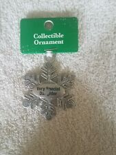 "Collectible Ornament ""Very Special Daughter"" some scratchs"