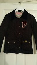 "WOMANS/GIRLS PAULS BOUTIQUE QUILTED JACKET,SZ-SMALL,18""PTP,BLACK,GENUINE"
