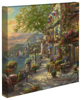 Thomas Kinkade Studios French Riviera Cafe 14 x 14 Canvas Gallery Wrap