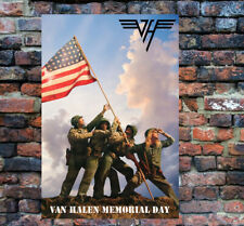 "VAN HALEN poster of 1983 US Festival Mem-Day very cool 24"" x 36"" display it!"