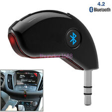 Car Bluetooth 4.2 Receiver Speaker 3.5mm AUX Music Streaming Audio Adapter Mic
