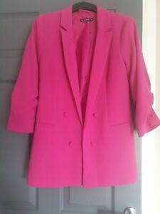 Hot Pink Longline Blazer Size 8