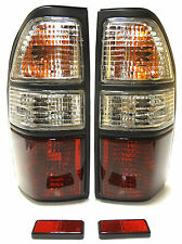 TOYOTA LAND CRUISER 90/95 -02 Posteriore Tail segnale Luci Lampada Set Crystal Rosso Bianco