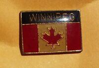 Winnipeg Canada flag pin badge Canadian Maple Leaf