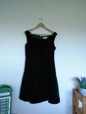 Coast ladies black velvet look evening dress size 14