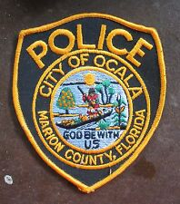 163e PATCH VINTAGE POLICE  CITY OF OCALA FLORIDA POLICE.