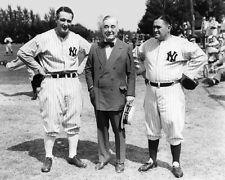 1935 New York Yankees LOU GEHRIG, JACOB RUPPERT, JOE MCCARTHY Glossy 8x10 Photo