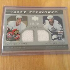 05-06 2005-06 UPPER DECK ROOKIE UPDATE EAVES MICHAEL PECA DUAL JERSEY /999 224