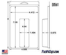 """E8561: 300 - 8""""H x 4.7""""W x 0.9""""D Clamshell Packaging Clear Plastic Blister Pack"""
