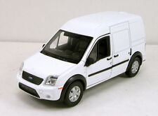 """WELLY DISPLAY FORD TRANSIT CONNECT 4.75"""" Diecast Car Model 43631D White Color"""