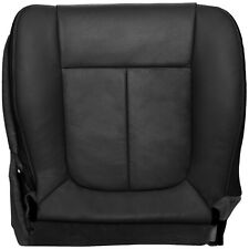 2009-2010 Ford F150 Lariat Passenger Bottom Perforated Seat Cover- Black Leather
