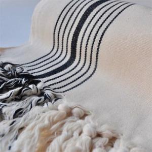 Ivory with Black Stripes Turkish Towel