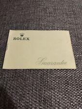 Rolex Garanzia Warranty Paper in Bianco da Compilare Blank Card Vintage 60/70