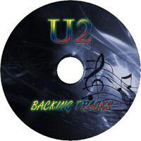 U2 GUITAR BACKING TRACKS CD BEST GREATEST HITS MUSIC PLAY ALONG MP3 ROCK BONO