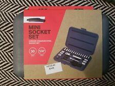 """Halfords Mini Socket Set Chrome 30 Pieces 1/4"""" Drive"""