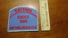 VINTAGE DAYTONA AUTO RACES 1980 DAYTONA BEACH FL NASCAR    PATCH BX D #41