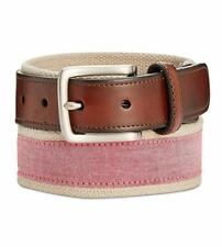 Club Room Mens Chambray Slim Casual Belt, Red, 36 - NEW