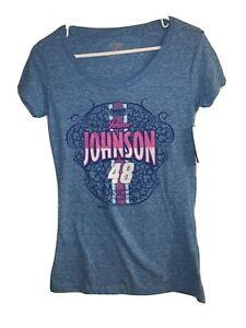Jimmie Johnson 48 NASCAR Womens Ladies T Shirt NWT Size XS
